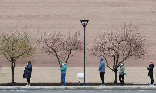 Social distancing in Massachusetts.